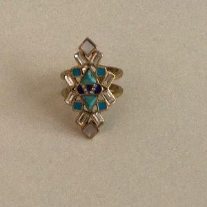 Stella & Dot Stone Tile Ring M/L